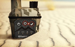 GSatMicro Camo Skin - Tracking at the beach