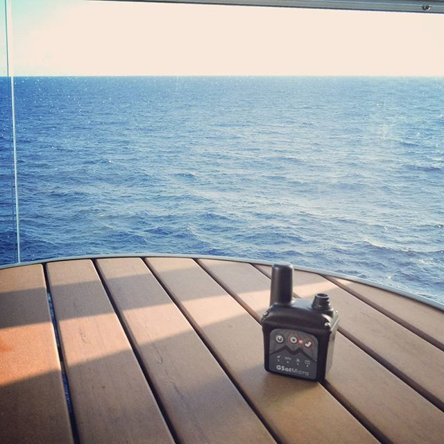 GSatMicro - Tracking on a cruise ship in the Caribbean