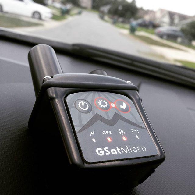 GSatMicro - Vehicle tracking in residential neighborhood